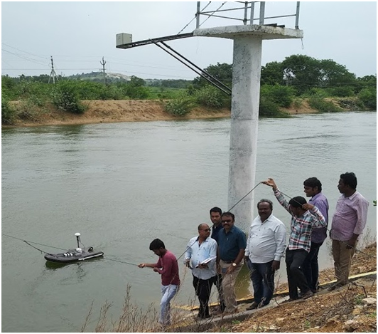 Measuring discharge with ADCP at Paleru Off Take